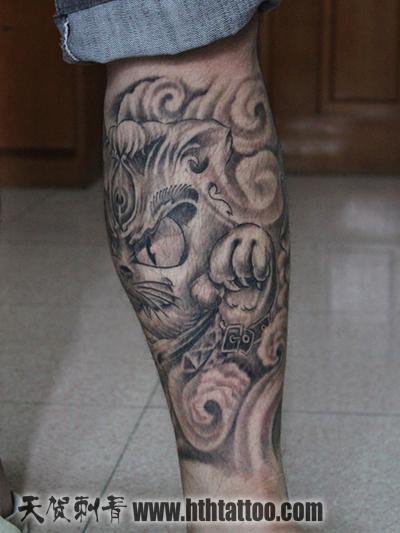 美猴王包小腿纹身