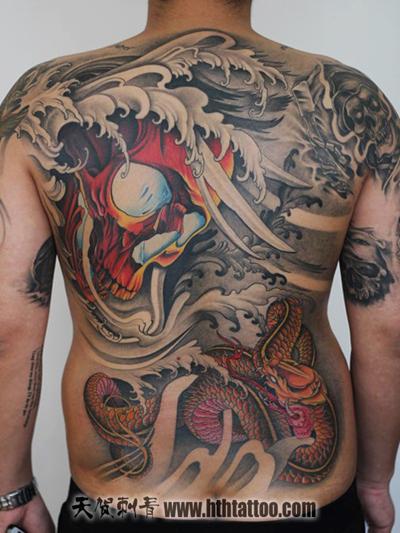 骷髅头蛇纹身 - 北京纹身|北京纹身店|朝阳纹身|北京图片